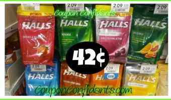 Halls Cough Drops only 42¢ each at Publix!