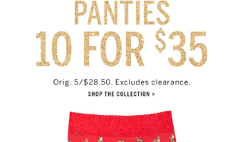 $3.50 Panties at Victoria's Secret! WOW!