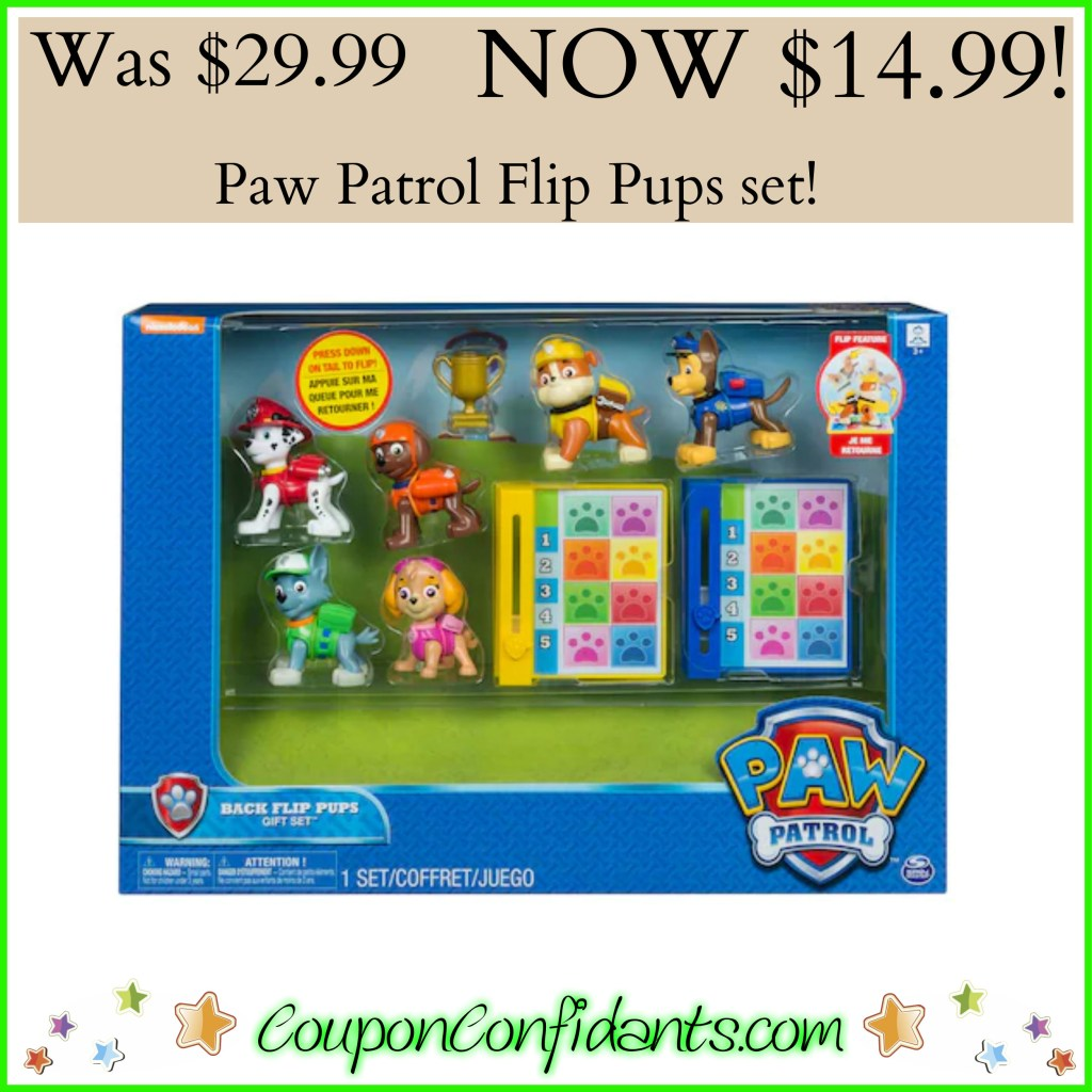 Paw Patrols Flipping Pups Set only $14.99! They do flips!