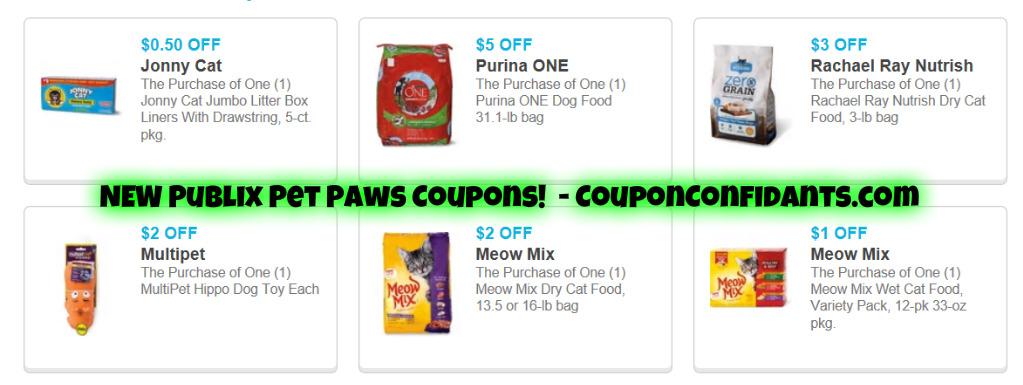 Publix Pet Coupons – NEW!
