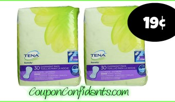 Tena Pads 19¢ at Publix! WOW!!