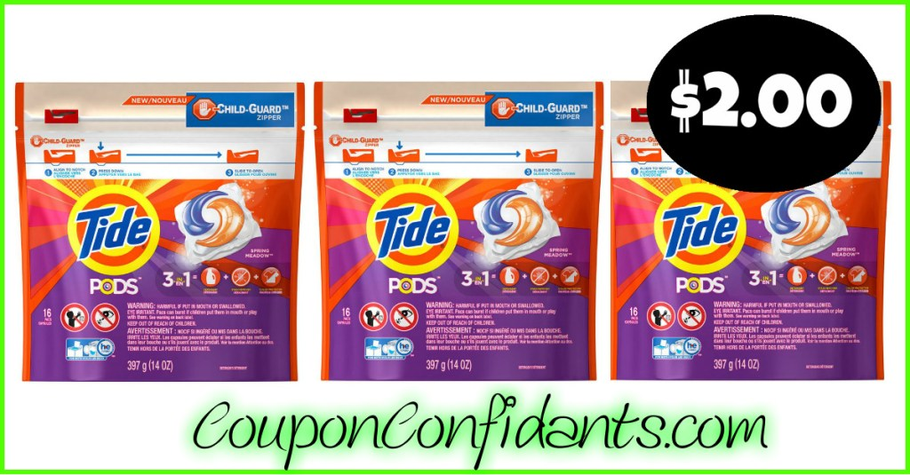 Tide Pods only $2.00 at Publix! WOW!