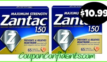 Zantac normally $23 for the 65 ct – $10.99 each!! Publix Deal!
