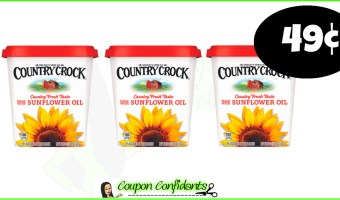 49¢ Country Crock Spread – 12/5 only at Publix!!