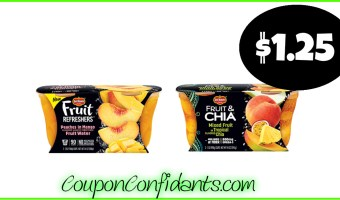 Del Monte Fruit & Chia or Fruit Refreshers only $1.25 at Publix!