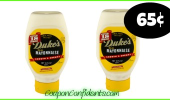 65¢ Duke's Mayonnaise at Publix!