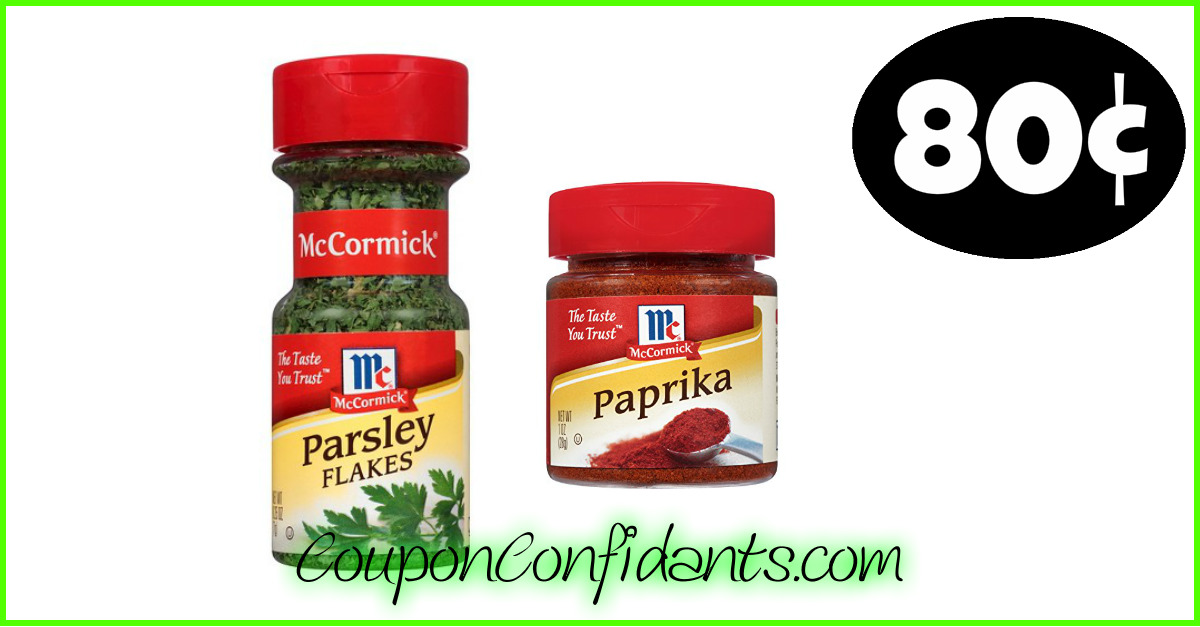Stock up on McCormick Spices at Winn Dixie and Bi-lo