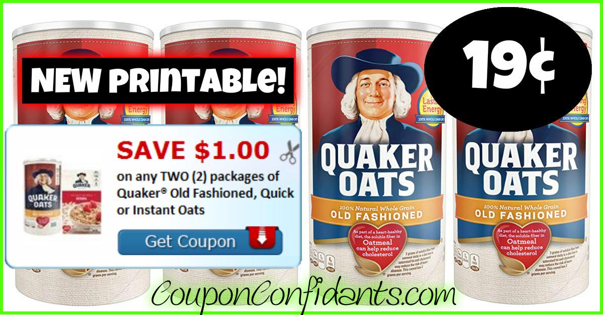 photograph regarding Quaker Printable Coupons referred to as 19¢ Quaker Oats at Publix! Certainly! ⋆ Coupon Confidants
