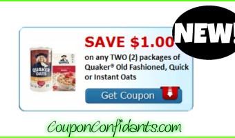 NEW Quaker Coupon! RUN!