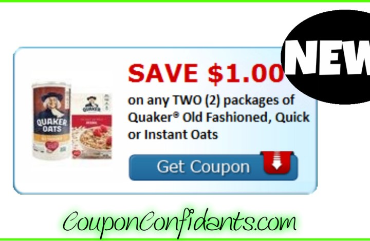 NEW Quaker Coupon! RUN!