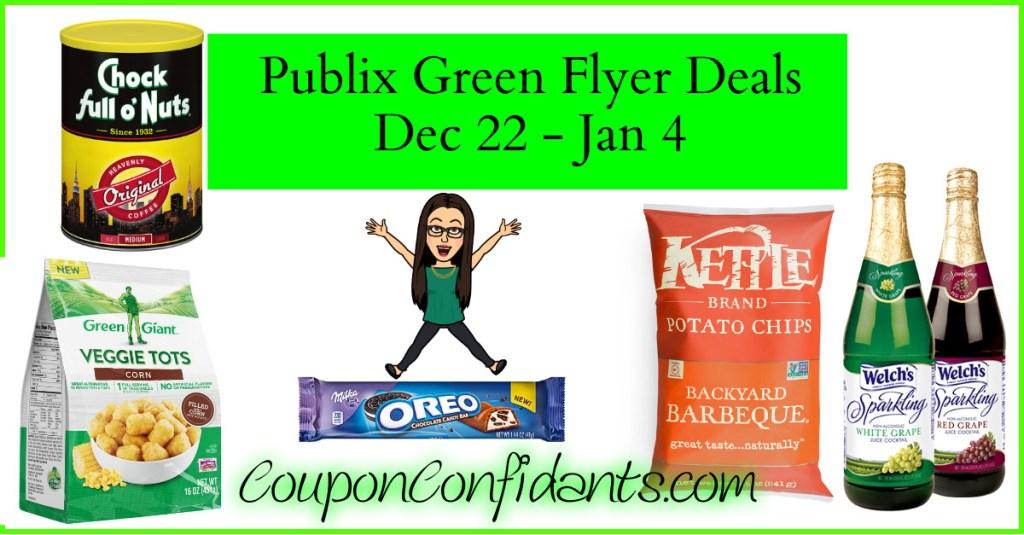 Publix Green Flyer Deals and Full Match ups!  Dec 22 – Jan 4