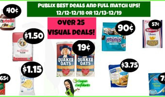 Publix BEST Deals and FULL Match ups 12/12-12/18 or 12/13-12/19