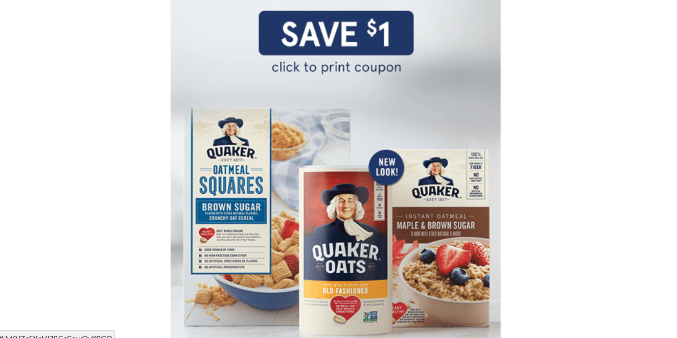 image about Quaker Printable Coupons referred to as $1/1 Uncommon Quaker Oats Coupon! ⋆ Coupon Confidants