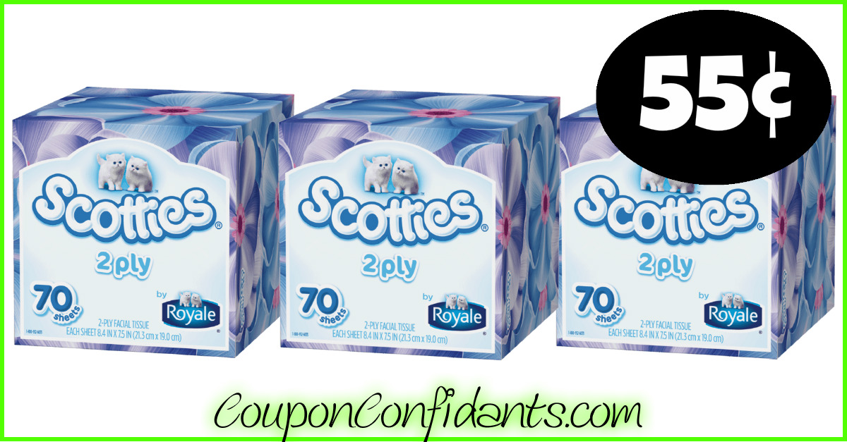 graphic relating to Scotties Tissues Printable Coupon titled Scotties Facial Tissues simply 55¢ just about every! ⋆ Coupon Confidants