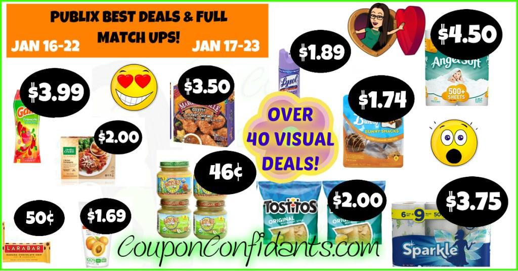 Publix Best Deals and FULL Match ups! Jan 16 – 22 or Jan 17 – 23