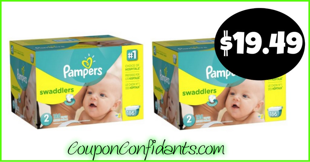 Pampers Super Pack Diapers only $19.49 at Target!