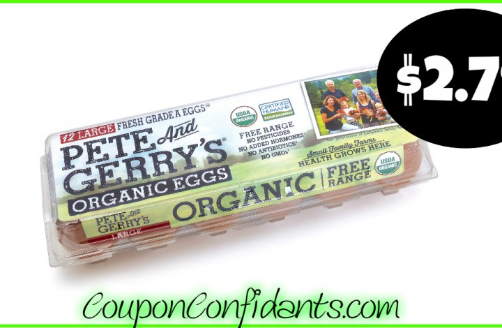 Pete & Gerry's Organic Brown Eggs only $2.79 at Publix!