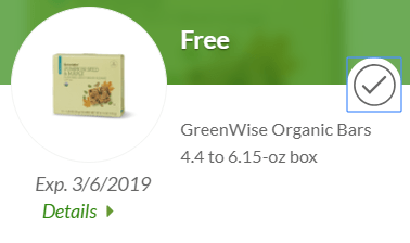FREE Organic Bars at Publix!