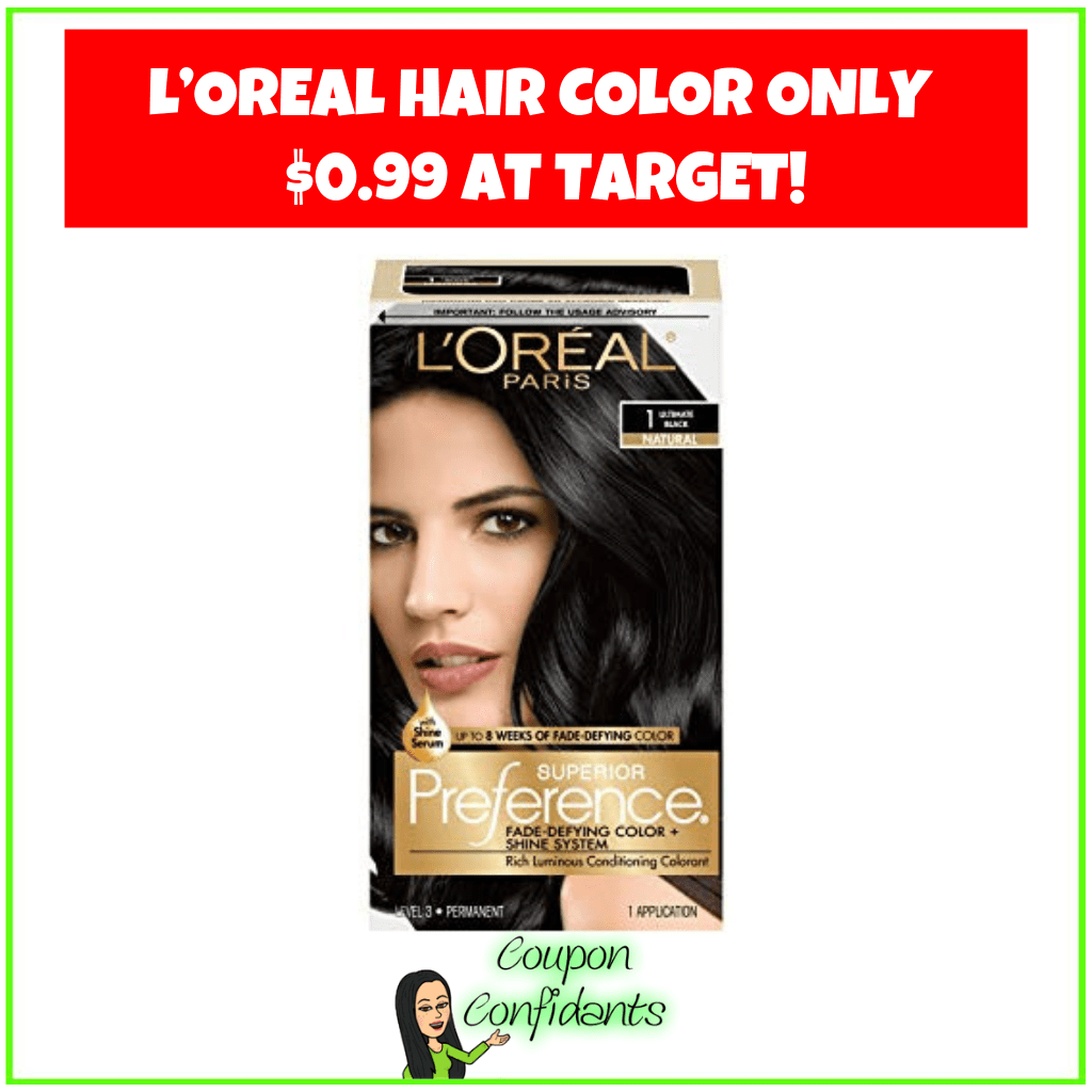 L'Oreal Hair Color Only $0.99 at Target!
