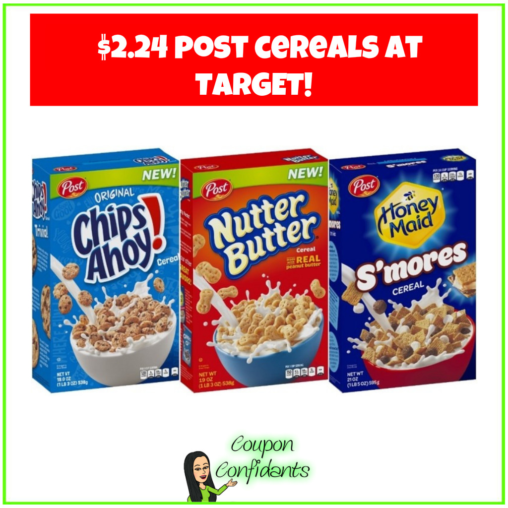 Post Cereal Only $2.24 at Target!