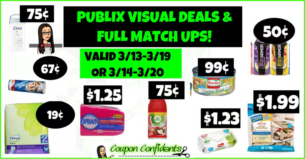 Publix Visual Best Deals and Full Match ups! 3/13-3/19 or 3/14-3/20