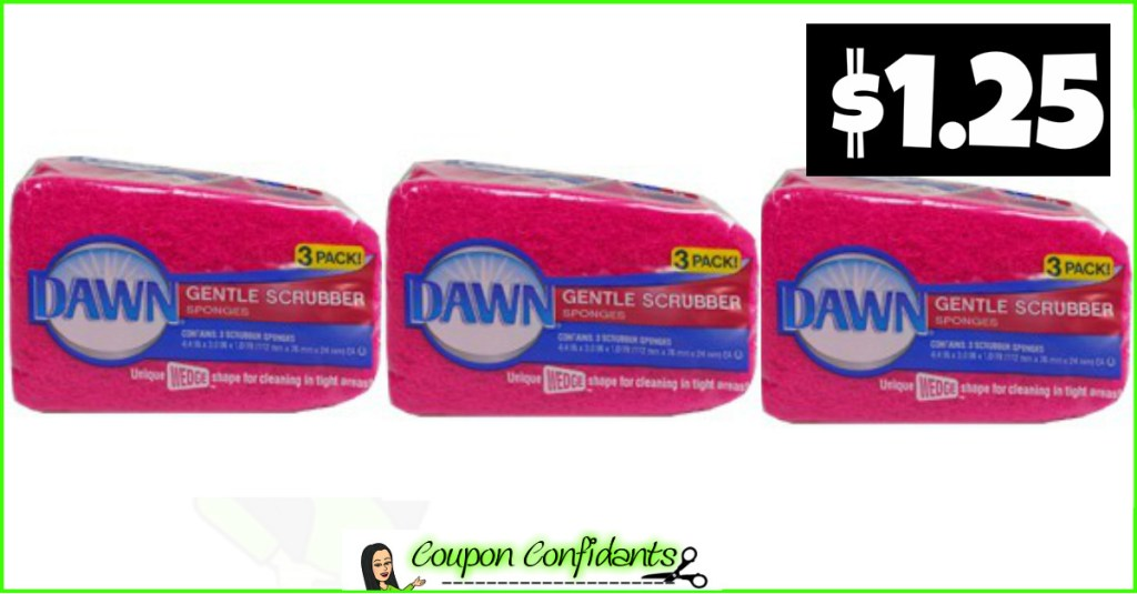 Dawn Sponges only $1.25 at Publix!