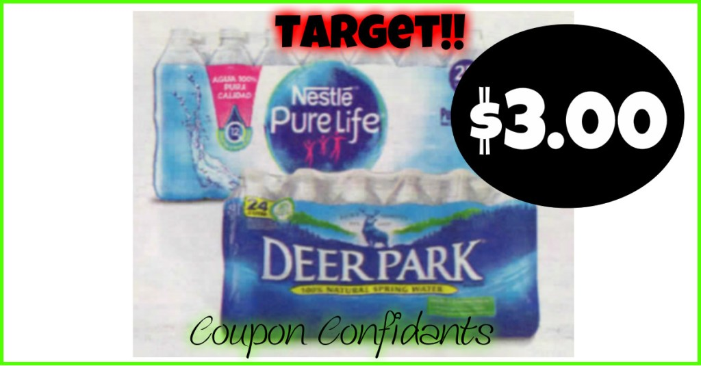 Deer Park and Nestle Pure Life Water Deals at Target!