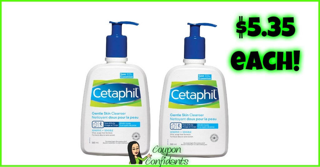 Cetaphil Facial Cleansers $5.35 each at CVS! (Normally over $9!)