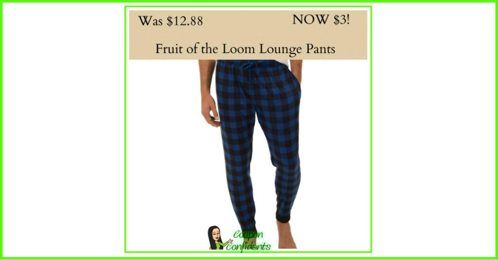 Fruit of the loom PJ Pants $3! WOW!