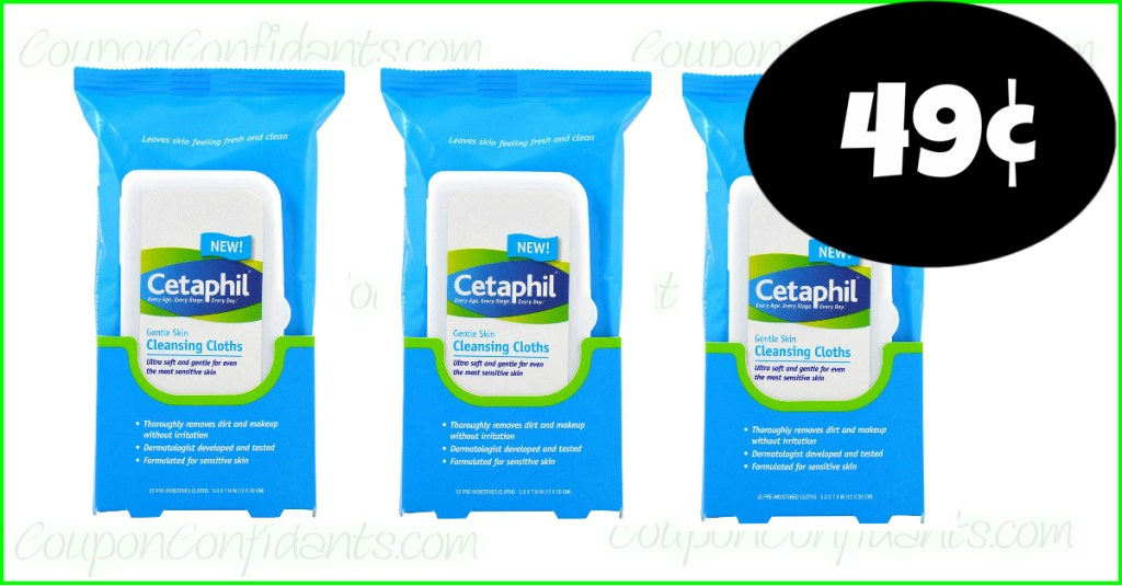 49¢ Cetaphil Wipes – LIVE now!! Easy Deal for Publix!