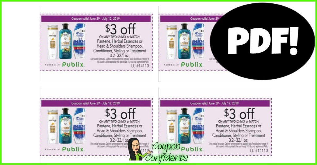 $3 off 2 Pantene Publix Coupon is HERE!