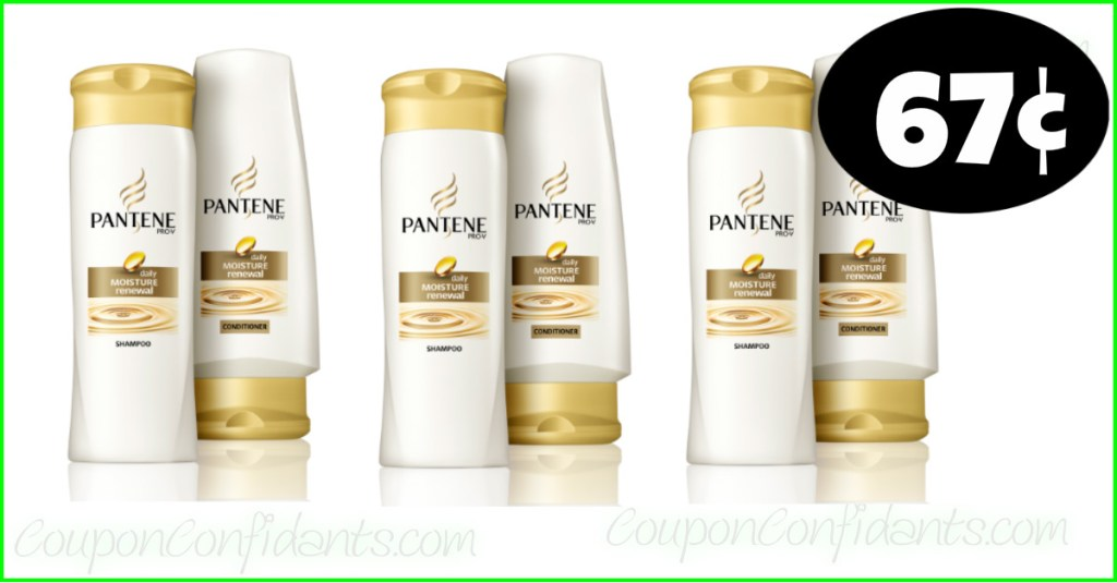 Pantene Shampoo or Conditioner only 67¢ at Publix! WOW!