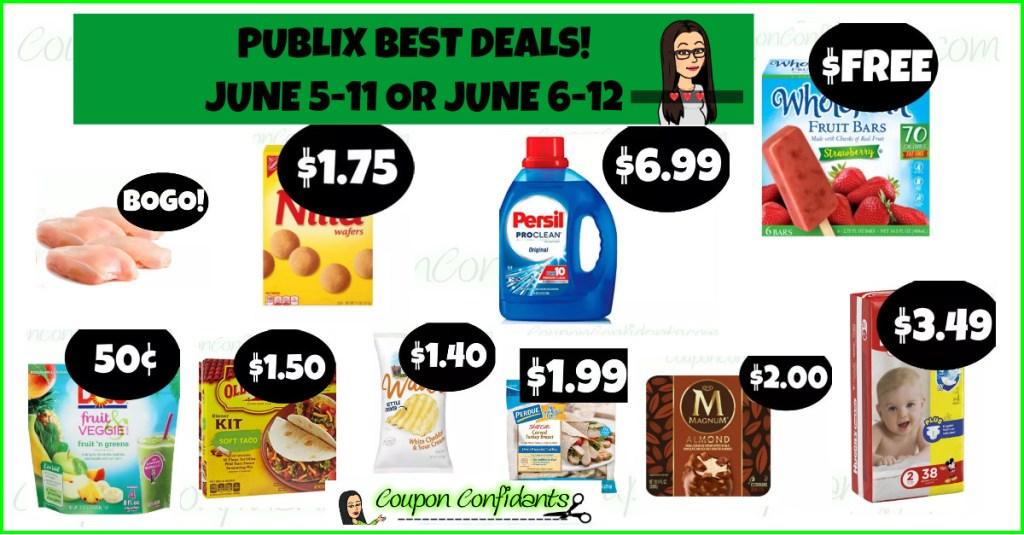 Publix BEST Deals and FULL List!! Visuals too! 6/5-6/11 or 6/6-6/12