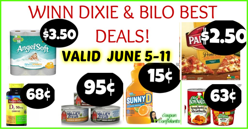 Winn Dixie and Bilo BEST Deals 6/5-6/11