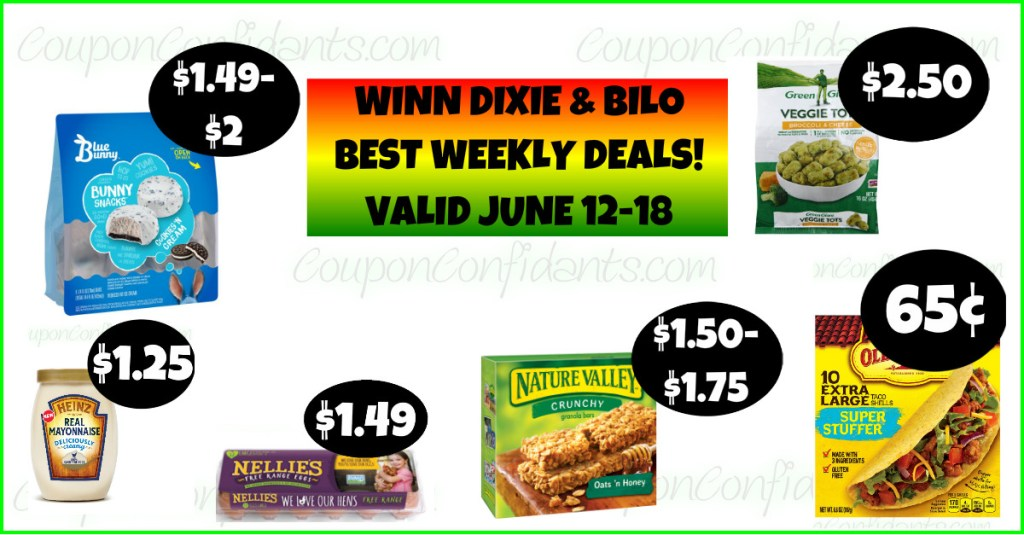 Bilo and Winn Dixie BEST Deals June 12-18