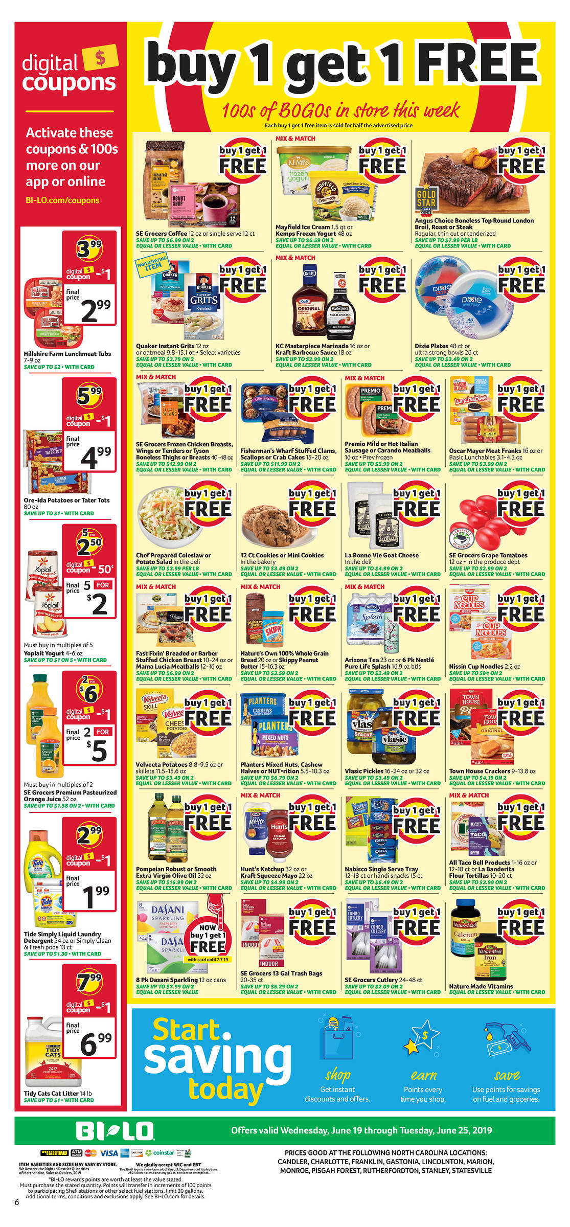 load coupons to bilo card