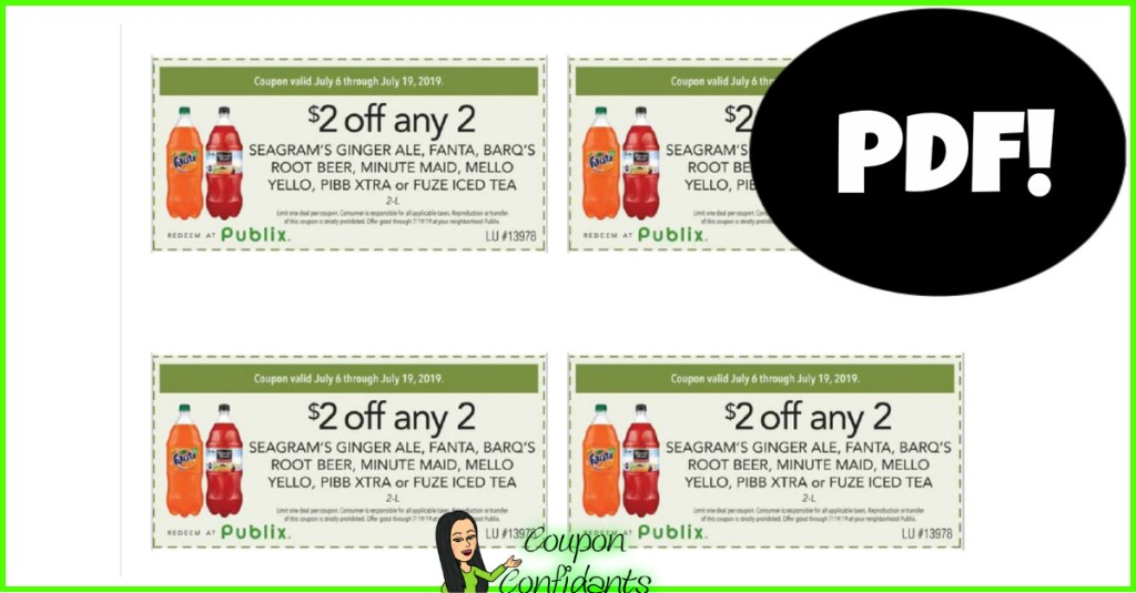 $2 OFF 2 Publix Soda Coupon is BACK! Print yours now!