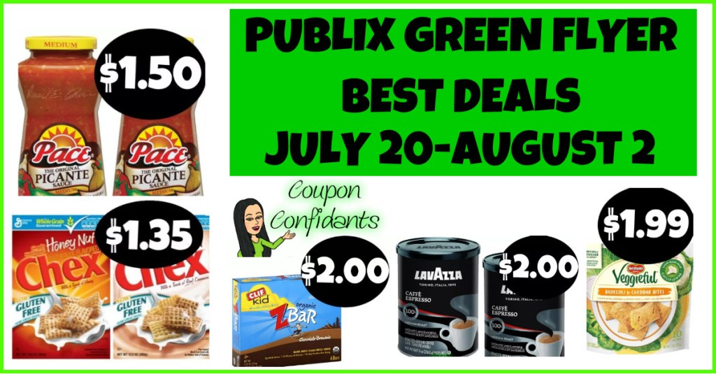 Publix BEST Green Flyer Deals and FULL List July 20 – August 2