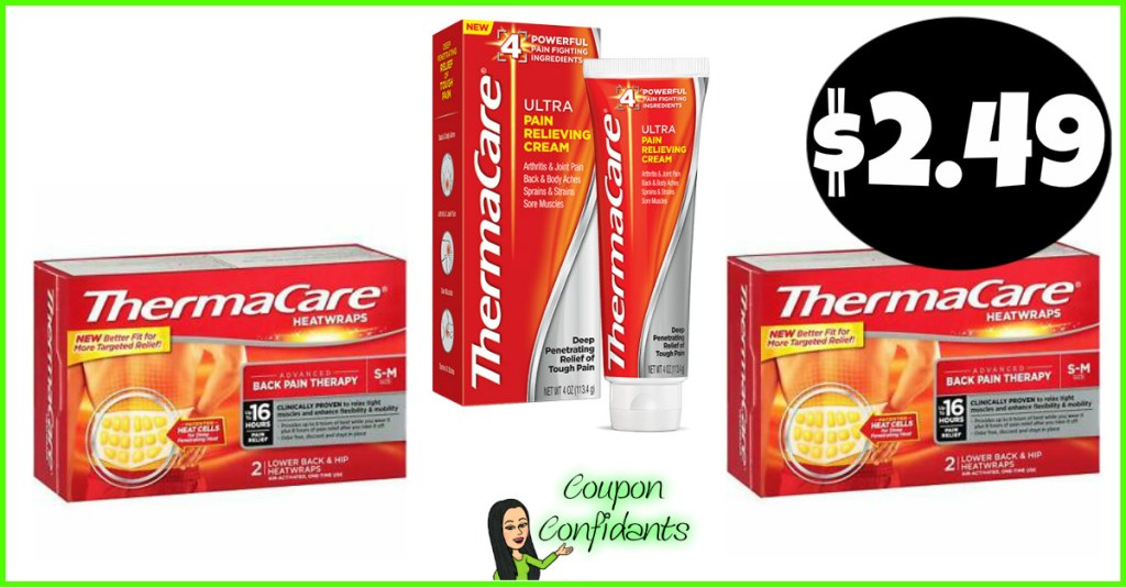 Thermacare Wraps or Cream $2.49 at Publix!