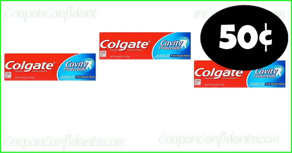50¢ Colgate Toothpaste at Publix!