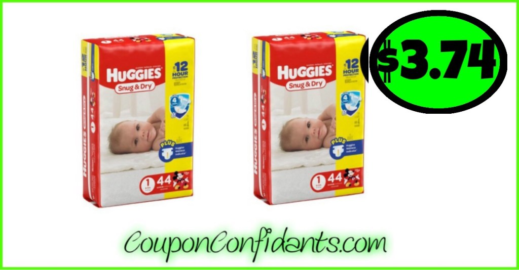 Huggies Diapers $3.74 each at Publix!