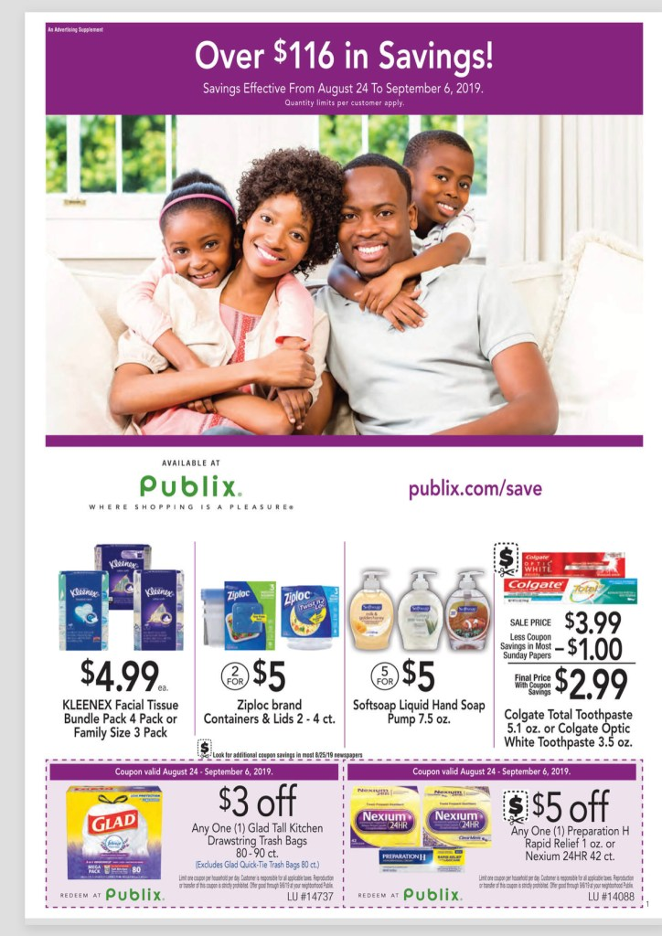 Publix Purple Flyer AD! August 24 – Sept 6