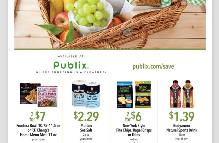 Publix Green Flyer AD and Deals too! August 17-30