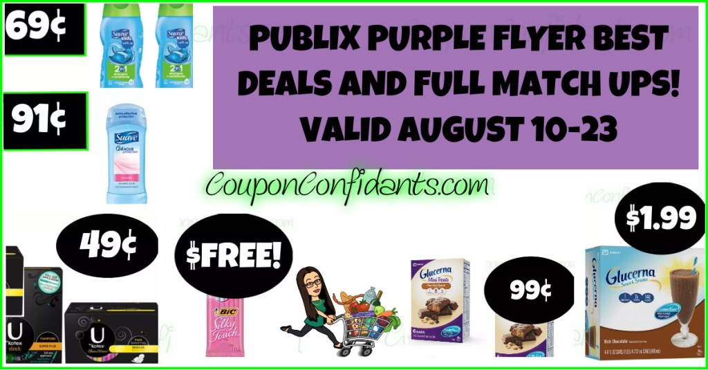 Publix Purple Flyer BEST Deals & FULL List August 10-23