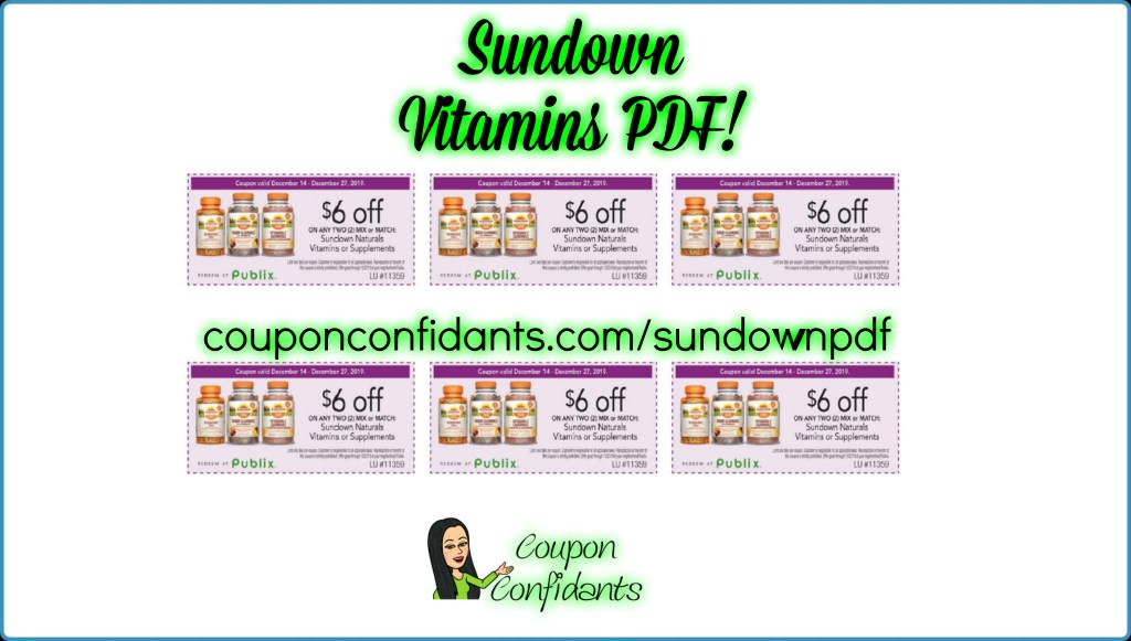 $6/2 Sundown PDF is HERE for Publix!