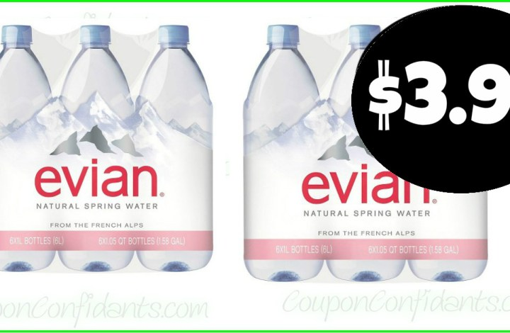Evian Spring Water 6 packs $3.99 – ANYONE CAN DO THIS DEAL!