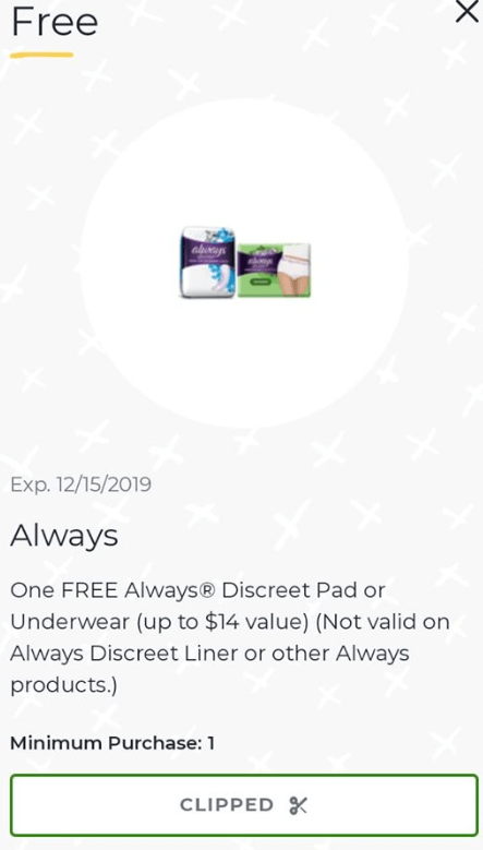 FREE Always Pads up $14!! ANYONE CAN DO THIS DEAL!