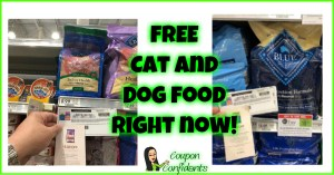 FREE CAT AND DOG FOOD RIGHT NOW AT PUBLIX!!