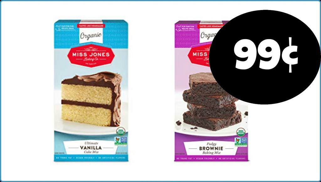 99¢ Miss Jones Cake or Brownie Mix at Publix!