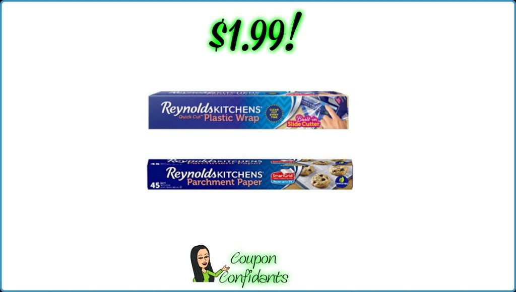 Reynolds Parchment Paper or Plastic Wrap $1.99 at Publix!